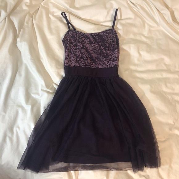 Garage Purple Velvet Dress
